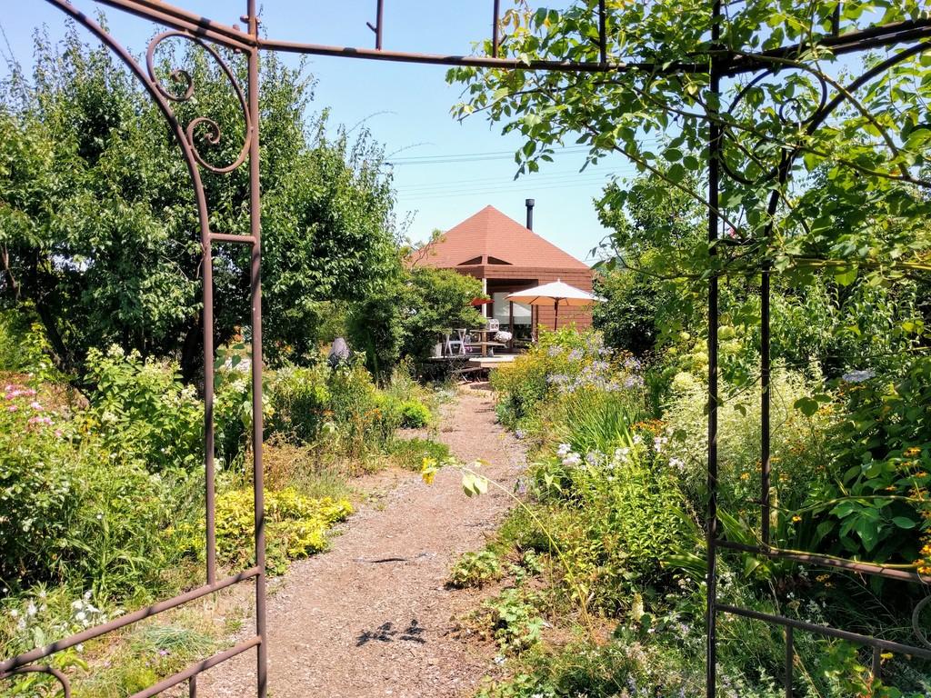 ミツバチガーデンカフェのお庭01