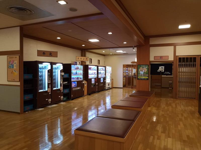 仙台コロナの湯の自販機スペース