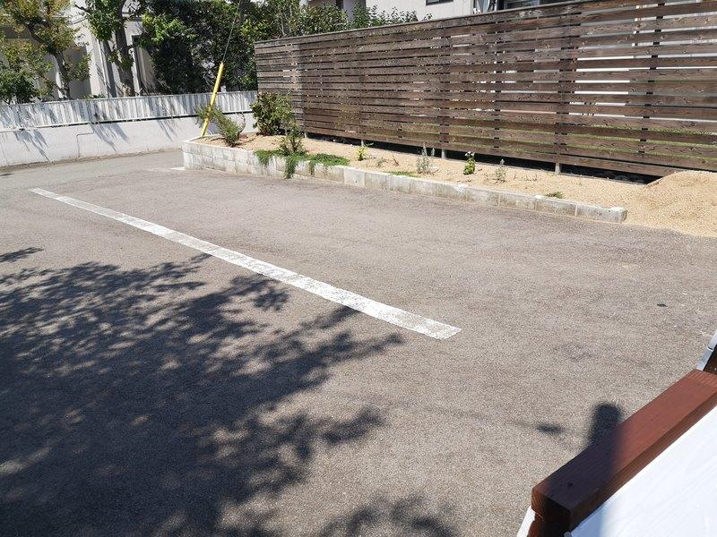 ハナカフェの駐車場
