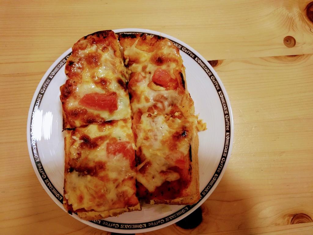 たっぷりたまごのピザトースト