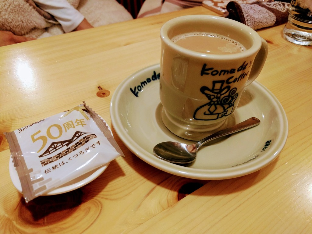 コメダ珈琲のカフェオーレ