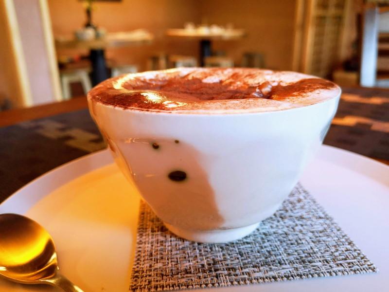 庭園喫茶 錦の栗のラテ