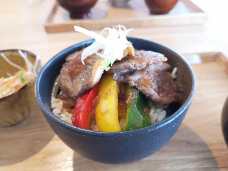 農haco(ノハコ)のステーキ丼3