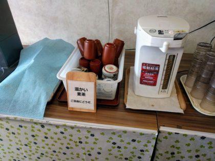 たかはた天使のレストラン麦茶サービス